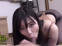 Ejaculation in the mouth with too erotic blowjob with Misato Yoshiura