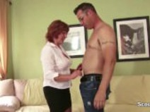 MILF Mother Seduce Young Boy to Fuck her