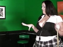 He cheats with bbw in fishnets on the pool table