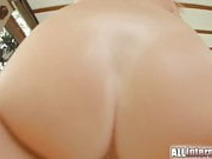 All Internal hot blonde teases with her body before fucking